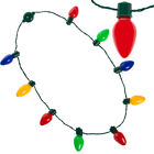 Lighted Christmas Necklace LED Xmas Bulbs Kids Adults Party Favors Light Up