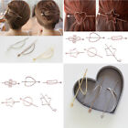 Women Girl Geometric Star Heart Headpiece Hair Clip Party Barrette Hair Pin Gift