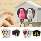 Yoocart Lover Sparrow Birdhouse Home Wall Hook Birds Nest Keychain Holder