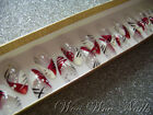 20 Hand Painted False Nails Full Cover Press on Nails Red White Abstract
