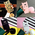 Fashion Cat Phone Case For SAMSUNG S8+Warm Furry Hair Ball Silicone iPhone 8/8+