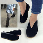 Black Men Martial Art Kung Fu Ninja Chinese Shoes Slip On Sole Canvas Slippers