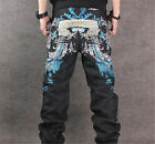 Men's Casual Personality Embroidery Long Pants Skateboard Hip-hop Fashion Jeans