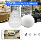 960P Bulb Light Wireless IP Camera 360 Degree Panoramic FishEye Security CCTV