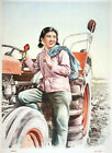 6718.Chinese woman farmer China POSTER.Home room Decoration.Graphic art design
