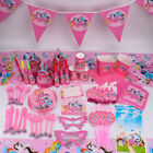 Unicorn Table Cover Baby Birthday Party Supplies Tableware Set Decorations Kids