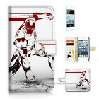 ( For iPod Touch 5 ) Wallet Case Cover P21172 Ironman Iron Man