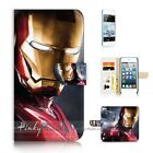 ( For iPod Touch 5 ) Wallet Case Cover P21175 Ironman Iron Man