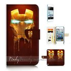 ( For iPod Touch 5 ) Wallet Case Cover P21176 Ironman Iron Man