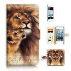 ( For iPod Touch 5 ) Wallet Case Cover P21184 Lion