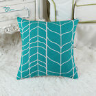 Square Pillows  Throw Cushion Covers Stem Panels Geometric