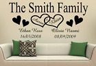 PERSONALISED FAMILY WALL ART STICKER NAMES AND DATES QUOTE DECAL HOME DECOR DIY