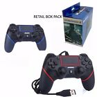 NEW WIRED GAMEPAD CONTROLLER JOYSTICK REMOTE FOR PLAYSTATION 4 PS4 & PRO UK COMP