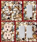 Sea shells light switch plate wall plates bedroom bathroom kitchen decor