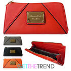 Womens Anna Smith Zip Around Wallet Purse Long Faux Leather Wallet Bag
