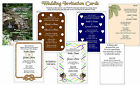 50 WEDDING INVITATIONS customize Waterfall Palm Marti Gras with Envelopes P7