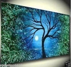 """New Style! """"Tree""""Art Large Original Abstract Hand Oil Painting 24""""X48""""(no framed"""