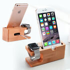 Bamboo Wood Charging Station Dock Stand Holder For A pple Watch i Phone 8 7 Plus