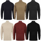 Kensington Cashmillon Mens High Neck Fine Knit Jumper Sweater Pull Over Turtle