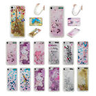 Bling Liquid Sparkle Accessories Glitter Heart Rubber Case for iPod Touch 5/6