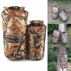 8L-15L Waterproof Dry Bag Pouch Camo Canoe Boating Kayaking Outdoor Camping Sack
