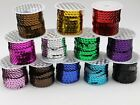 Внешний вид - 5 Yards 6mm Flat Sequin Sew On Trim Strip Trim Lace Craft Costume Sewing Color