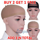 2 Wig Cap Black & Nude Breathable Stocking Nylon Stretch Hair Liner Unisex New