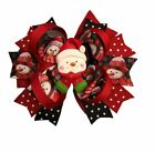 Red and Black Snowman Boutique Hair Bow