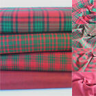 Sparkly Christmas Cotton Lurex Tartan  fabric 110cm wide sold per half metre