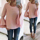 Fashion Women Ladies Sweet Casual Long Sleeve T Shirt Summer Loose Tops Blouse
