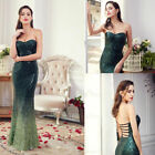 Ever-Pretty Strapless Sequins Formal Evening Prom Dresses Mermaid Green 07001
