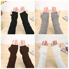 1 Pair Women Windproof Mittens Winter Knitted Acrylic Gloves For Outdoor Sports