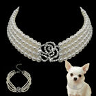 Dog Necklace Collar Jewelry Pearls Diamante Accessory for Pet Puppy Chihuahua