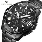 PAGANI DESIGN Militray Men Stainless Steel Wrist Watch Chronograph Waterproof