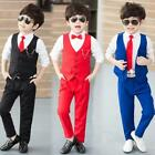 good manners charts for kids - 2018 New Wedding Flower Boy Good Quality Suits Child School Vest Red/Blue/Black