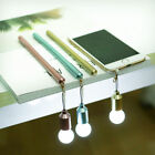 Dust Plug LED Light Bulb Shape Gel Ink Pen Ballpoint Pen Stationery Kid Supplies