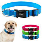 Nylon Reflective Small Medium Large Dog Collars with D ring