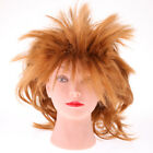 Punk Rock Star Wig Ladies Mens Fancy Dress Carnival 1980s 90s Music Band Costume