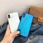 Newest For iPhone X 8 7 6 plus Case Blu-ray Marble Effect Pattern Soft Back Skin