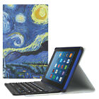 Moko For Amazon Kindle Fire HD 8 2017 / 2016 Tablet Leather Case Keyboard Cover