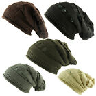 BNWT Knitted Oversized Slouch Distressed D Rib Beanie Cap Hat