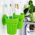 CO_ Toothbrush Toothpaste Suction Cup Holder Rack Bathroom Wall Organizer Novelt