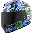 Scorpion EXO-R410 Bushido Full Face Motorcycle Helmet Red/Blue Adult Sizes