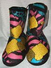 New Adult The Nightmare Before Christmas Sally Sherpa Plush Boot Slippers Disney