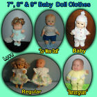 "Cute 7"", 8""  9"" BABY or BERENGUER DOLL CLOTHES Handmade by the Crafty Grandmas"