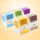 Perfume USB Small Fan Cooling Portable Desktop Dual Bladeless Air Conditioner