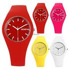New Women Fashion Silica Gel Band Round Analog Quartz Wrist Watch Bracelet C5
