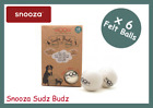 SNOOZA SUDZ BUDZ, FELTED WOOL LAUNDRY BALLS, WASH & DRY ACCESSORY, PACK OF 6