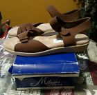 NEW Womens Milanos By Myers Brown Chanell Sandals 10M