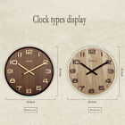 14 Extra Large Round Wooden Wall Clock Vintage Retro Antique  Bentwood Style AB